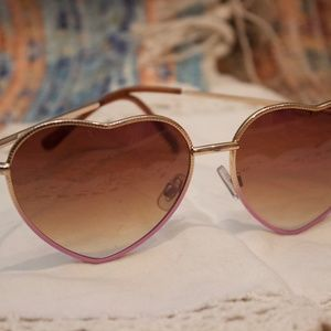 CLAIRES heart- shaped sunglasses